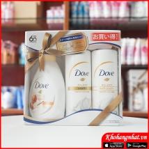 Bộ tắm gội Dove sét 3 (400g + 400g + 380g) màu vàng