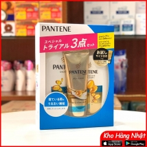 Bộ dầu gội & xả Pantene sét 3 màu xanh dương (300ml+270g+70g) 2020 rẻ nhất