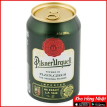Bia Pilsner Urquell 4,4% Tiệp – 24 lon 330ml