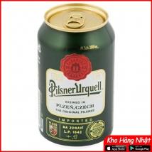 Bia lon Pilsner Urquell 4,4% Tiệp lon 330ml