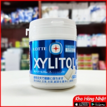 Kẹo cao su Lotte Xylitol Nhật Bản vị fresh mint (xanh dương)
