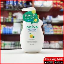Sữa tắm hương chanh Naive 530ml Nhật Bản rẻ nhất