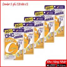 COMBO 5 gói Vitamin C DHC (120 viên x 5 gói) rẻ nhất