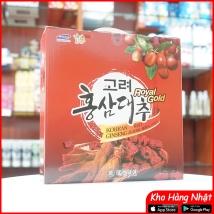 Nước hồng sâm táo đỏ Royal Gold (30 gói x 80ml)