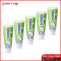 Combo 5 tuýp kem đánh răng trẻ em Kao 70g vị dưa