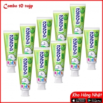 Combo 10 tuýp kem đánh răng trẻ em Kao 70g vị dưa