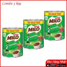 Combo 3 lon Milo NESTLE úc 1kg rẻ nhất