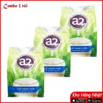 Combo 3 túi Sữa A2 Úc dạng bột nguyên kem 1kg rẻ nhất