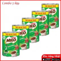 Combo 5 lon Milo NESTLE úc 1kg rẻ nhất