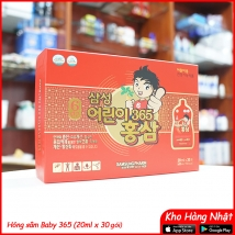Nước hồng sâm Baby365 Samsung Korea 600ml (20ml x30) giá rẻ nhất