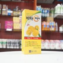 Viên ngậm Vitamin C - Family nội địa Hàn Quốc dạng vỉ (chanh vàng)