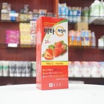 Viên ngậm Vitamin C - Family nội địa Hàn Quốc dạng vỉ (dâu tây)