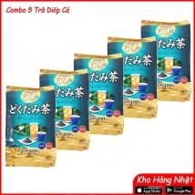 Combo 5 gói Trà diếp cá Orihiro 180g (60 gói)  rẻ nhất