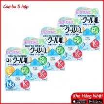 Combo 5 hộp Nước nhỏ mắt Rohto 12ml (màu xanh) rẻ nhất