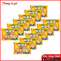 Thùng 12 gói Mỳ Mug Nissin 94g (màu vàng) nội địa Nhật