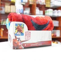 Chăn lông cừu hình Disney Big Hero 6 (hoạt hình màu đỏ) nội địa Nhật Bản