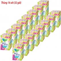 Thùng 16 sét băng vệ sinh Laurier ngày có canh (22pc*2) rẻ nhất
