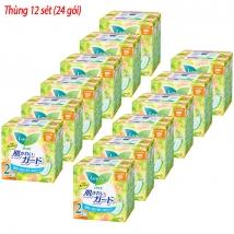 Thùng 12 sét băng vệ sinh Laurier ngày không canh (30pc*2) rẻ nhất