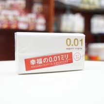 Bao cao su Sagami Original 0.01 mỏng nhất thế giới (hộp 5 cái) rẻ nhất