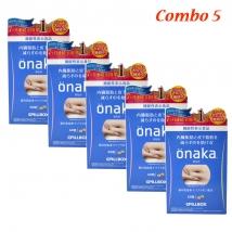 Combo 5 hộp viên giảm mỡ bụng Onaka (60 viên x 5)