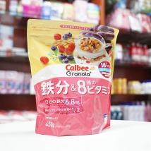 Ngũ cốc Calbee 450g (màu hồng) nội địa Nhật Bản