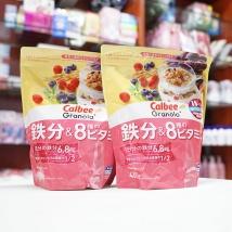 Combo 2 gói ngũ cốc Calbee (450g x 2) màu hồng