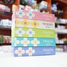 Combo 5 hộp Giấy ăn khô Nepia (hình hoa) giá rẻ nhất