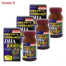 Combo 3 hộp DHA 1000s (120 viên x 3) nội địa Nhật giá rẻ nhất