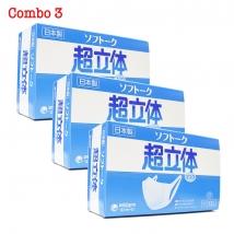 Combo 3 hộp Khẩu trang Unicharm (100 chiếc x 3 hộp) rẻ nhất