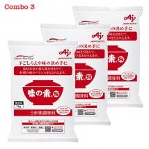 Combo 3 gói mì chính (bột ngọt) Ajinomoto (1kg x 3) nội địa Nhật Bản