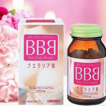 Viên uống nở ngực BBB best body beauty hộp 300 viên