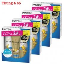 Thùng 4 Bộ dầu gội & xả Pantene sét 3 màu xanh dương (300ml+270g+70g) rẻ nhất