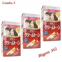 Combo 3 hộp thuốc nhuộm tóc Bigen 3G nội địa Nhật Bản