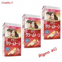 Combo 3 hộp thuốc nhuộm tóc Bigen 4G nội địa Nhật Bản