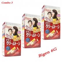 Combo 3 hộp thuốc nhuộm tóc Bigen 6G nội địa Nhật Bản