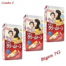 Combo 3 hộp thuốc nhuộm tóc Bigen 7G nội địa Nhật Bản