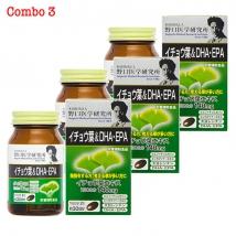 Combo 3 hộp DHA EPA Ginkgo Noguchi (60 viên x 3) rẻ nhất