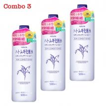 Combo 3 chai nước hoa hồng Hatomugi (500ml x 3) giá rẻ nhất