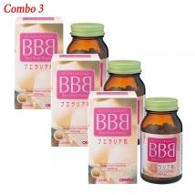 Combo 3 hộp viên uống nở ngực Orihiro  BBB best body beauty (300 viên x 3) rẻ nhất