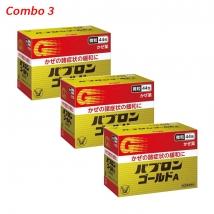 Combo 3 hộp thuốc trị cảm cúm Taisho Pabrons (44 gói x 3) nội địa Nhật Bản