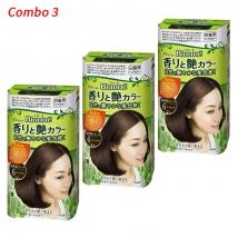 Combo 3 hộp Thuốc nhuộm tóc Thảo dược Kao Blaune No.6