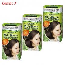 Combo 3 hộp Thuốc nhuộm tóc Thảo dược Kao Blaune No.7