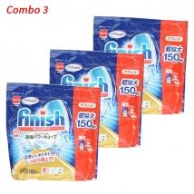Combo 3 túi Viên rửa bát Finish (150 viên x 3) Nhật Bản rẻ nhất