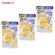 Combo 3 Vitamin C DHC (120 viên x 3 gói) nội địa Nhật Bản