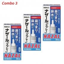 Combo 3 hộp thuốc xịt xoang Nazal (30ml x 3) nội địa Nhật Bản