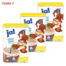 Combo 3 Hộp Bột Cacao Ja! Kakao Drink (800g x 3) nội địa Đức