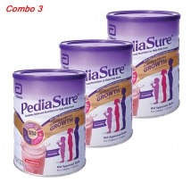 Combo 3 hộp sữa PediaSure hương dâu (850g x 3) giá rẻ nhất
