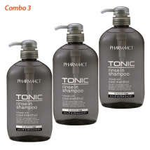 Combo 3 chai gội xả Tonic 600ml dành cho nam giới rẻ nhất