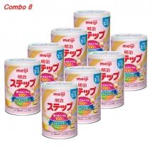 Thùng 8 hộp sữa Meiji số 1-3 (800g x 8 hộp) rẻ nhất
