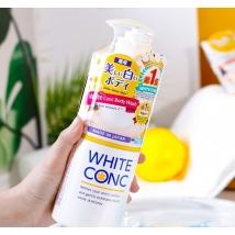 Sữa tắm dưỡng trắng da White ConC chai có vòi 600ml nội địa Nhật